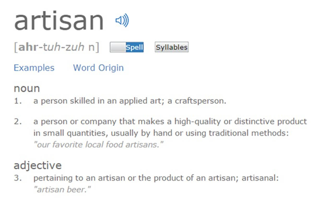 artisan - beer of an artisan