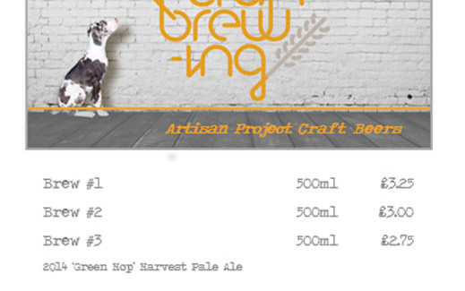 Artisan Project Craft Beer - Fresh Green Hop Pale Ales & Foraged Porters